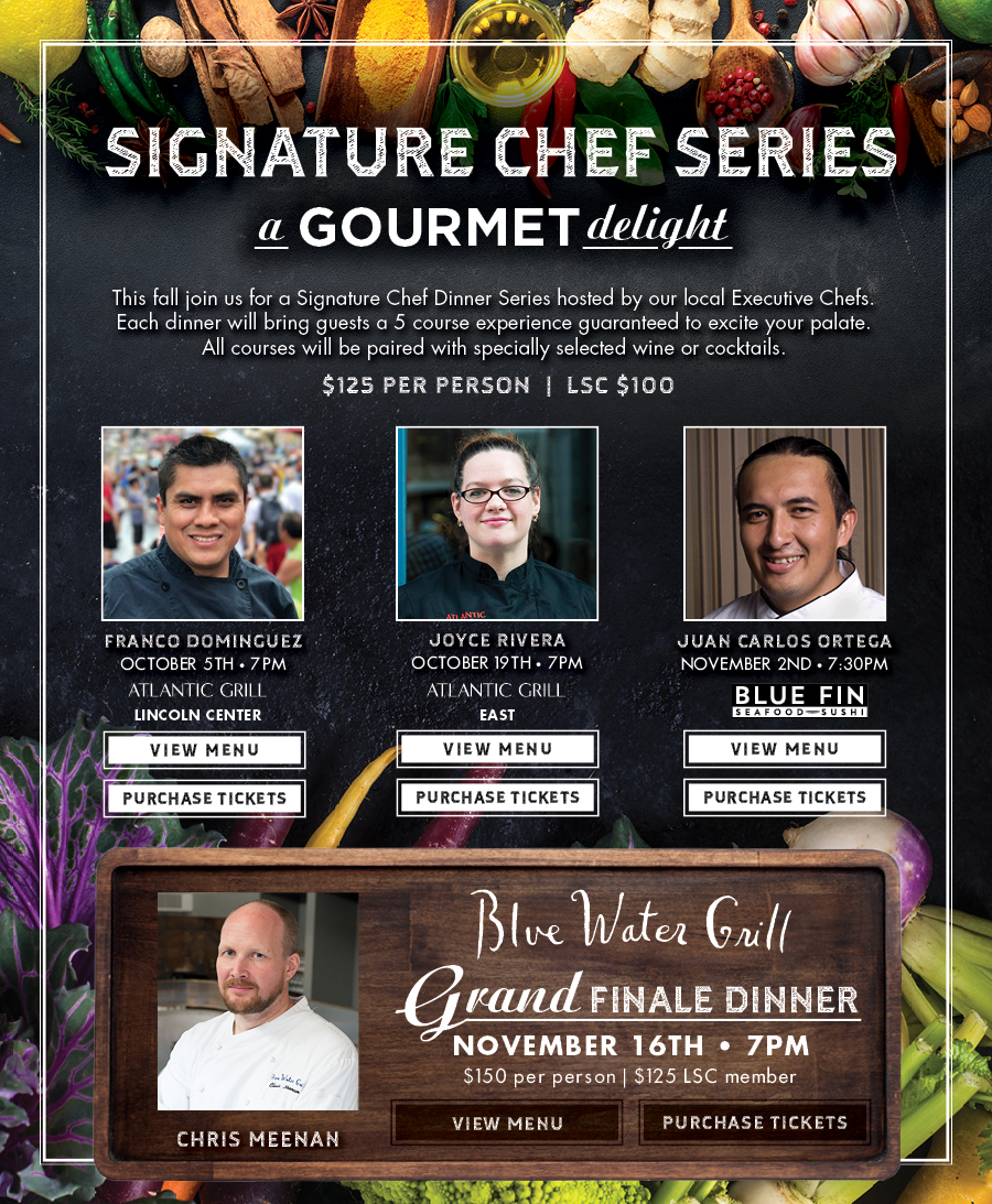 5 Course Experience Guaranteed to Excite Your Palate. $125 per person, $100 LSC Member.